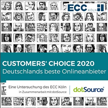 Customers' Choice 2020 - Deutschlands beste Onlineanbieter